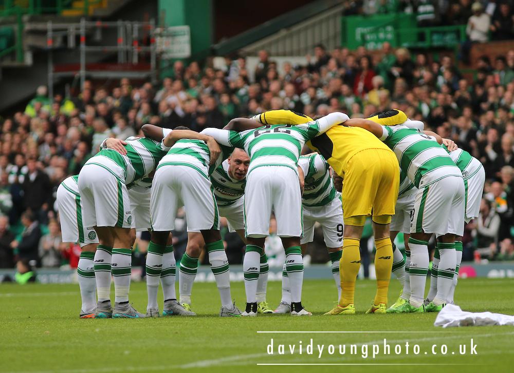 Celtic huddle - Celtic v Dundee - Ladbrokes Premiership at Celtic Park<br /> <br /> <br />  - &copy; David Young - www.davidyoungphoto.co.uk - email: davidyoungphoto@gmail.com