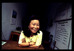 Portrait of a joyful vietnamese woman, Sapa, Vietnam, Southeast Asia, 1997