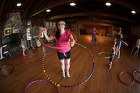 Erin Lovett Sherman artist in residence at Sandy Island Family Camp on Lake Winnipesaukee.  © Karen Bobotas Photographer
