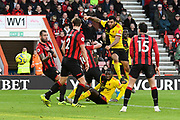 Goal - Troy Deeney (9) of Watford scores a goal to give a 0-2 lead during the Premier League match between Bournemouth and Watford at the Vitality Stadium, Bournemouth, England on 12 January 2020.
