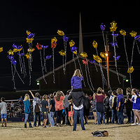 11-02-17 Berryville Jr High Cheerleaders - Balloon Release/Layne Utley
