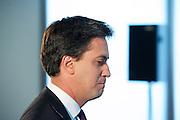 Rt Hon Ed Miliband MP<br /> leader of the Labour party<br /> and MP for Doncaster North<br /> Welfare reform speech plus Q &amp; A at Newham London, Royal Albert Dock, London, Great Britain <br /> 6th June 2013 <br /> <br /> hosted by Sir Robin Wales<br /> Mayor of Newham<br /> <br /> Ed Miliband <br /> <br /> Photograph by Elliott Franks
