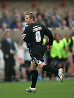 Photo: Rich Eaton.<br /> <br /> Cheltenham Town v Nottingham Forest. Coca Cola League 1. 13/10/2007. Forest's Kris Commons scores midway through the second half t half to make it 3-0 and celebrates.