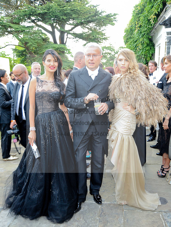 Left to right, GOGA ASHKENAZI, ALEXANDER LEBEDEV and Elena Perminova  at the Raisa Gorbachev Foundation Party held at Stud House, Hampton Court Palace on 5th June 2010.  The night is in aid of the Raisa Gorbachev Foundation, an international fund fighting child cancer.