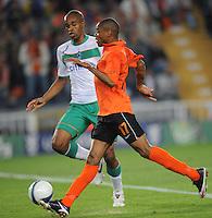 FUSSBALL     UEFA CUP  FINALE  SAISON 2008/2009 Shakhtar Donetsk - SV Werder Bremen 20.05.2009 Luiz Adriano (Shakhtar rechts) erzielt das 1:0 gegen Naldo (Bremen)