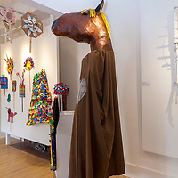 Giant puppets, costumes and masks created for 'Warkworth By Night' at The Arts and Heritage Centre (Ah!), Warkworth, Ontario, Canada