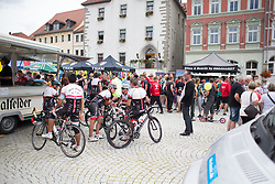 Spectators are waiting for the start of Stage 4 of the Lotto Thuringen Ladies Tour - a 18.7 km individual time trial, starting and finishing in Schmolln on July 16, 2017, in Thuringen, Germany. (Photo by Balint Hamvas/Velofocus.com)