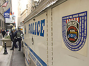 NY emergency police unit on wall street
