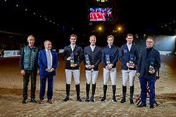 Team Belgium, Philippaerts Olivier, Guery Jerom, Devos Pieter, Verlooy Jos, Weinberg Peter<br /> Jumping Mechelen 2019<br /> © Hippo Foto - Dirk Caremans<br />  26/12/2019