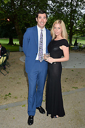WILLIAM & VIOLET VESTEY at a dinner hosted by Cartier in celebration of The Chelsea Flower Show held at The Hurligham Club, London on 19th May 2014.
