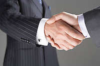 Businessmen Shaking Hands close-up on hands