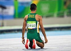 14.08.2016, Olympic Stadium, Rio de Janeiro, BRA, Rio 2016, Olympische Sommerspiele, 400m, Finale, Herren, im Bild Wayde Van Niekerk (RSA, Goldmedaille) // Goldmedalist Wayde Van Niekerk of South Africa during the Men's 400m Final of the Rio 2016 Olympic Summer Games at the Olympic Stadium in Rio de Janeiro, Brazil on 2016/08/14. EXPA Pictures © 2016, PhotoCredit: EXPA/ Johann Groder