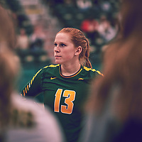 5th year libero, Taylor Ungar (13) of the Regina Cougars during the Women's Volleyball home game on Thu Nov 15 at Centre for Kinesiology, Health & Sport. Credit: Arthur Ward/Arthur Images