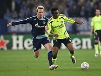 Photo: Maarten Straetemans/Sportsbeat Images.<br /> Shalke 04 v Chelsea. UEFA Champions League. 06/11/2007.<br /> Ivan Rakitic of Schalke with John Obi Mikel of Chelsea