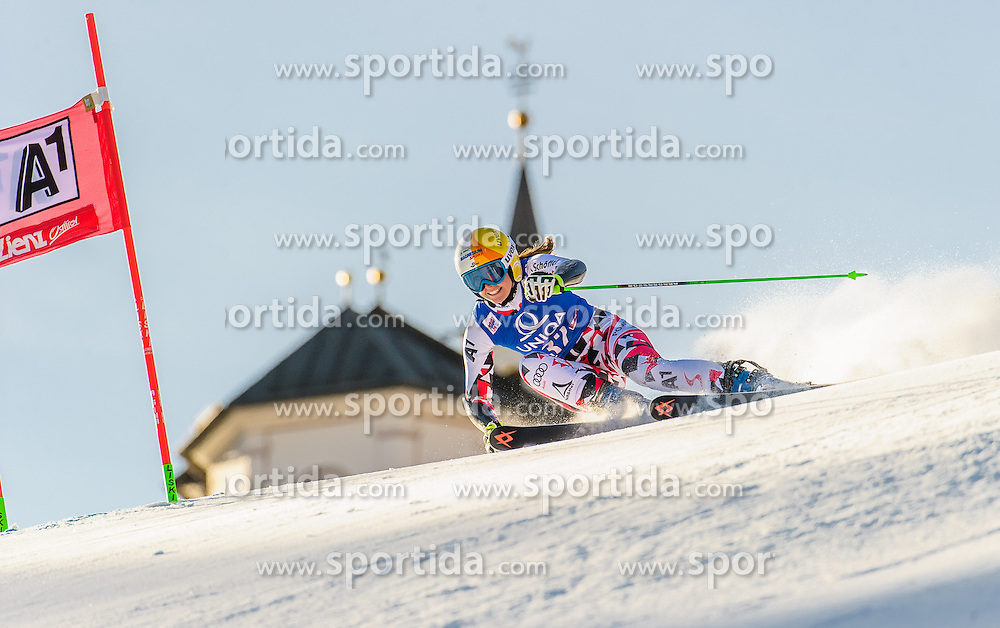 28.12.2015, Hochstein, Lienz, AUT, FIS Ski Weltcup, Lienz, Riesenslalom, Damen, 1. Durchgang, im Bild Cornelia Huetter (AUT) // Cornelia Huetter of Austria during 1st run of ladies Giant Slalom of the Lienz FIS Ski Alpine World Cup at the Hochstein in Lienz, Austria on 2015/12/28. EXPA Pictures © 2015, PhotoCredit: EXPA/ Michael Gruber