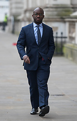 © Licensed to London News Pictures. 09/01/2018. London, UK. Prisons and Probation Minister Sam Gyimah arriving in Downing Street this morning. Yesterday British Prime Minister Theresa May reshuffled her cabinet, appointing some new ministers. Photo credit : Tom Nicholson/LNP