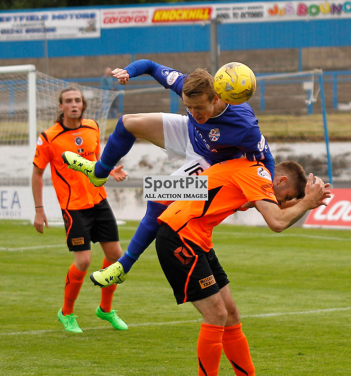 Cowdenbeath FC V Stranraer FC, Scottish League 1, 8th August 2015Cowdenbeath FC V Stranraer FC, Scottish League 1, 8th August 2015<br /> <br /> COWDENBEATH #16 SAM ORRITT OVER STRANRAER #4 CRAIG PETTIGREW