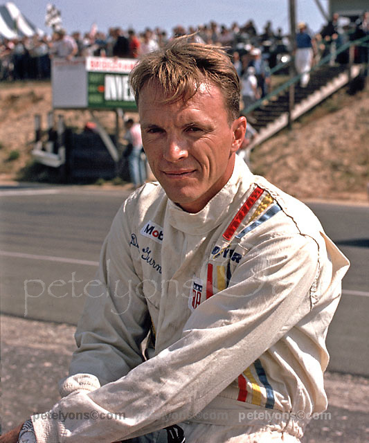 Dan Gurney just prior to his victory (Lola T70-Ford) in the 1966 Bridgehampton Can-Am