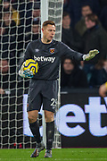 David Martin (GK) (West Ham) during the Premier League match between West Ham United and Arsenal at the London Stadium, London, England on 9 December 2019.