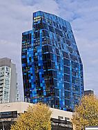 New York City, NY, Blue Building designed Bernard Tschumi, 105 Norfolk Street, Delancy Street