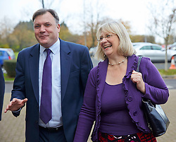 Shadow Chancellor Ed Balls  with Anne Snelgrove the Labour candidate for Swindon South as he visits  Swindon College, Swindon, United Kingdom. Thursday, 28th November 2013. Picture by i-Images