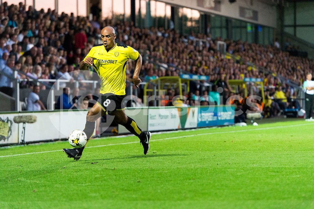Chris O'Grady of Burton Albion in action during the EFL Sky Bet Championship match between Burton Albion and Derby County at the Pirelli Stadium, Burton upon Trent, England on 26 August 2016. Photo by Brandon Griffiths.