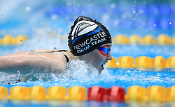 Emily Large competes in the Women's 200m Open 200m Butterfly heats during day three of the 2017 British Swimming Championships at Ponds Forge, Sheffield.