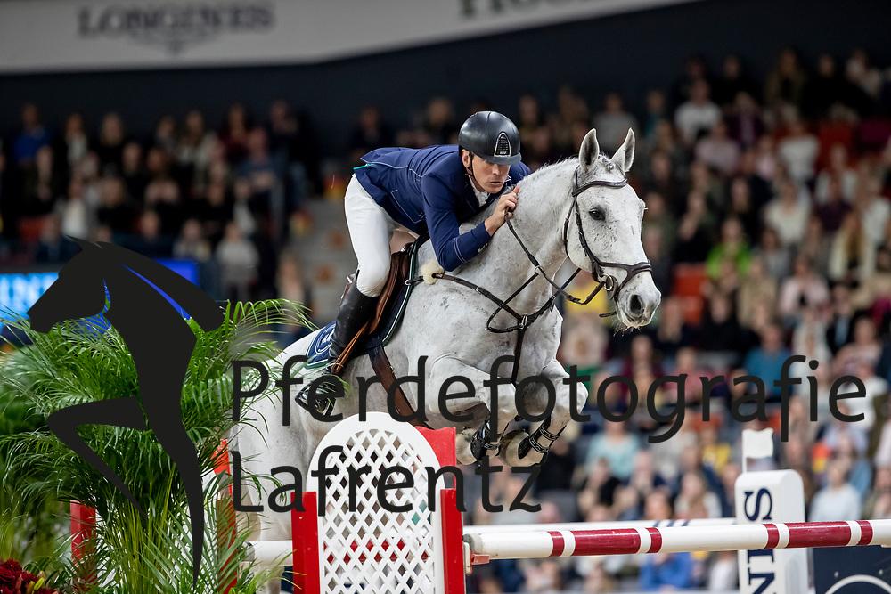 FREDRICSON Peder (SWE), Catch Me Not S<br /> Göteborg - Gothenburg Horse Show 2019 <br /> Longines FEI World Cup™ Final II - Jump-Off/Stechen<br /> Int. jumping competition with jump-off (1.50 - 1.60 m)<br /> Longines FEI Jumping World Cup™ Final and FEI Dressage World Cup™ Final<br /> 05. April 2019<br /> © www.sportfotos-lafrentz.de/Stefan Lafrentz