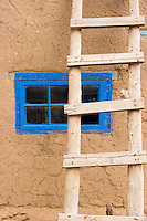 Blue Window and Ladder, Taos Pueblo, New Mexico