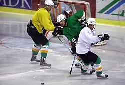 Frank Banham and Ralph Intranuovo at second ice hockey practice of HDD Tilia Olimpija on ice in the new season 2008/2009, on August 19, 2008 in Hala Tivoli, Ljubljana, Slovenia. (Photo by Vid Ponikvar / Sportal Images)