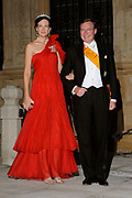 Gala dinner on the occasion of the civil wedding of Grand Duke Guillaume and Princess Stephanie at the Grand-Ducal palace in Luxembourg <br /> <br /> On the photo: Prince Jean of Luxembourg with wife Dianne of Nassau