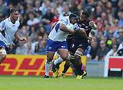 Samoa Wayne Ole Avei in action during the Rugby World Cup 2015 match between Samoa and USA at the Brighton Community Stadium, Falmer, United Kingdom on 20 September 2015.