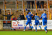 Aaron Hayden (#6) of Carlisle United FC celebrates with team mates after scoring the opening goal during the The FA Cup match between Carlisle United and Forest Green Rovers at Brunton Park, Carlisle, England on 10 December 2019.
