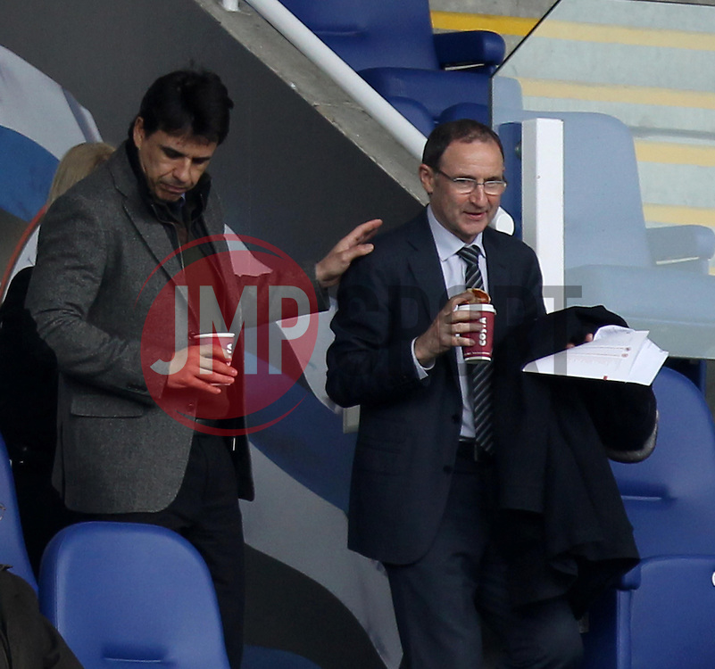 Republic of Ireland manager Martin O'Neil and Wales Manager Chris Coleman - Photo mandatory by-line: Robbie Stephenson/JMP - Mobile: 07966 386802 - 04/04/2015 - SPORT - Football - Reading - Madejski Stadium - Reading v Cardiff City - Sky Bet Championship
