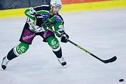 Andrej Hebar (HDD Tilia Olimpija, #84) during ice-hockey match between HDD Tilia Olimpija and EC KAC in 12th Round of EBEL league, on October 17, 2010 at Hala Tivoli, Ljubljana, Slovenia. (Photo By Matic Klansek Velej / Sportida.com)