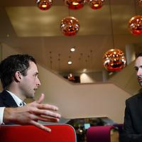 Nederland, Amsterdam , 4 februari 2015.<br /> Jan-Kees Janse en Vincent Fackeldey werkzaam voor PWC.<br /> Foto:Jean-Pierre Jans