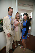 Mr. and Mrs. Charles Fraser and Iona Fraser, Glorious Goodwood. 31 July 2007.  -DO NOT ARCHIVE-© Copyright Photograph by Dafydd Jones. 248 Clapham Rd. London SW9 0PZ. Tel 0207 820 0771. www.dafjones.com.