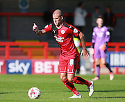 Crawley Town midfielder Jimmy Smith takes control in midfield during the Sky Bet League 2 match between Crawley Town and Accrington Stanley at the Checkatrade.com Stadium, Crawley, England on 26 September 2015. Photo by Bennett Dean.