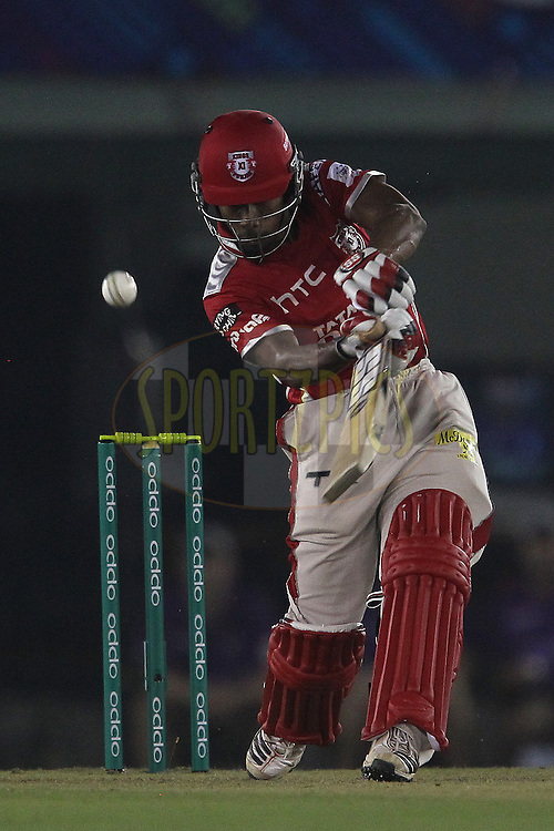 Wriddhiman SAHA of the Kings XI Punjab  during match 2 of the Oppo Champions League Twenty20 between the Kings XI Punjab and the Hobart Hurricanes held at the Punjab Cricket Association Stadium, Mohali, India on the 18th September 2014<br /> <br /> Photo by:  Ron Gaunt / Sportzpics/ CLT20<br /> <br /> <br /> Image use is subject to the terms and conditions as laid out by the BCCI/ CLT20.  The terms and conditions can be downloaded here:<br /> <br /> http://sportzpics.photoshelter.com/gallery/CLT20-Image-Terms-and-Conditions-2014/G0000IfNJn535VPU/C0000QhhKadWcjYs