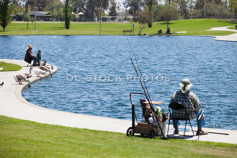 Fishing at Cerritos Community Regional Park