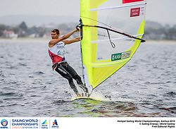 Aarhus, Denmark is hosting the 2018 Hempel Sailing World Championships from 30 July to 12 August 2018. More than 1,400 sailors from 85 nations are racing across ten Olympic sailing disciplines as well as Men's and Women's Kiteboarding. <br /> 40% of Tokyo 2020 Olympic Sailing Competition places will be awarded in Aarhus as well as 12 World Championship medals. ©JESUS RENEDO/SAILING ENERGY/AARHUS 2018<br /> 12 August, 2018.