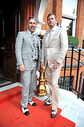 Left to right, owners of No.11 Owners Paul Goddard and Paul Davies at the relaunch party of No.11 - the hotel and Private members club, 11 Cadogan Gardens, London on 4th June 2009.