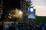 Kyo Group during the Ronquieres Festival in Belgium. A music festival in the inclined plane Ronquieres, emblematic place of Belgium. Sould-out festival with more than 32,000 festival goers for this fourth edition