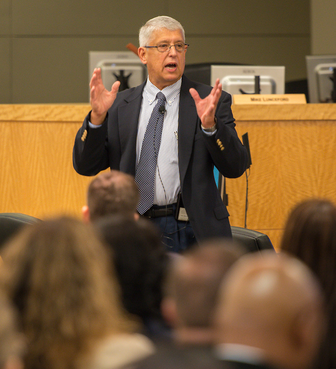 Coach Fair comments during the first principal Professional Leadership Series, September 2, 2015.