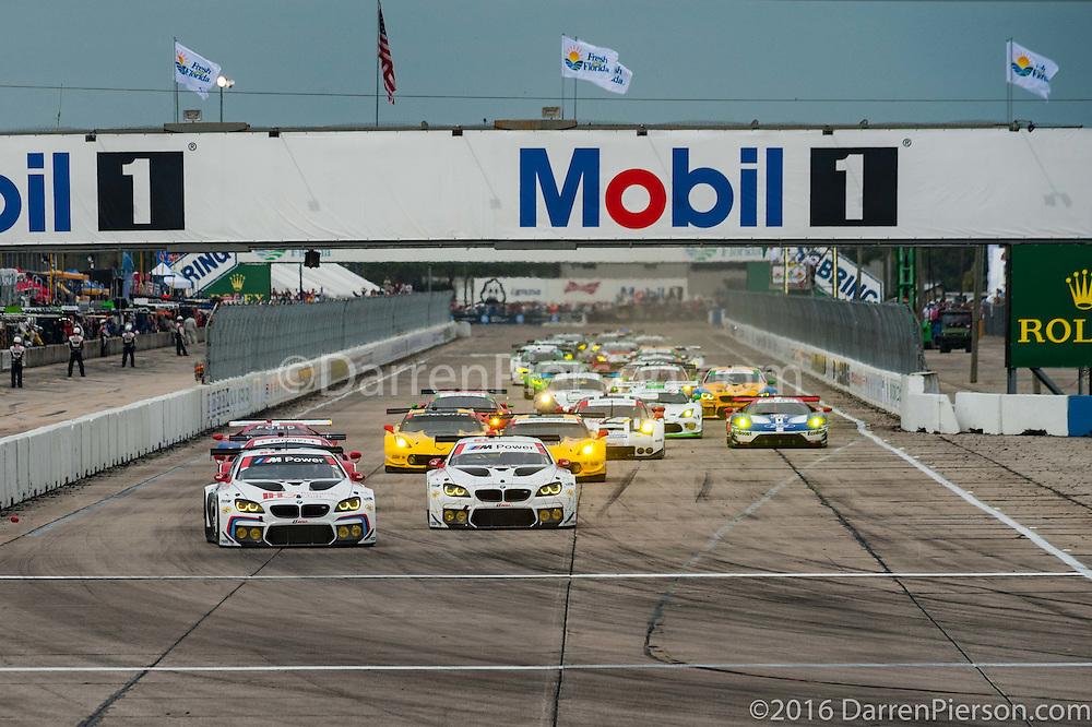 #100 BMW Team RLL BMW F13 M6 GTLM: John Edwards, Lucas Luhr, Kuno Wittmer, Graham Rahal