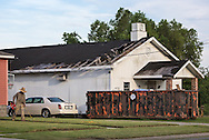July 17, Eastern New Orleans, Blighted chruch destroyed by Hurricane Katrina in 2005.