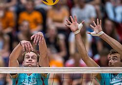 04-06-2016 NED: Nederland - Duitsland, Doetinchem<br /> Nederland speelt de tweede oefenwedstrijd in Doetinchem en verslaat Duitsland opnieuw met 3-1 / Sebastian Kühner #5, Marcus Bohme #8