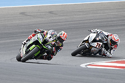 September 15, 2018 - Algarve, Portugal, Portugal - 1 .Jonathan Rea Kawasaki ZX-10RR Kawasaki Racing Team during the World Superbikes race at Autodromo Internacional do Algarve, 14-16 September 2018 in Algarve, Portugal. (Credit Image: © Fabio Averna/NurPhoto/ZUMA Press)