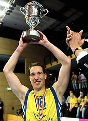 12-04-2014 NED: Finale Landstede Volleybal - Draisma Dynamo, Zwolle<br /> Landstede Volleybal pakt het kampioenschap door Dynamo met 3-0 te verslaan / Roland Rademaker