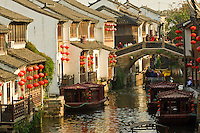 Boats on canal, Suzhou, China